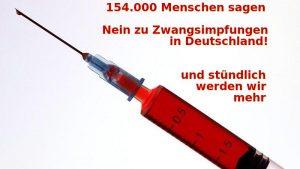 """Petition """"Nein zu Zwangsimpfungen in Deutschland"""""""
